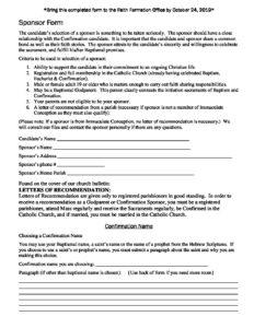 Sponsor & Name Form 2020